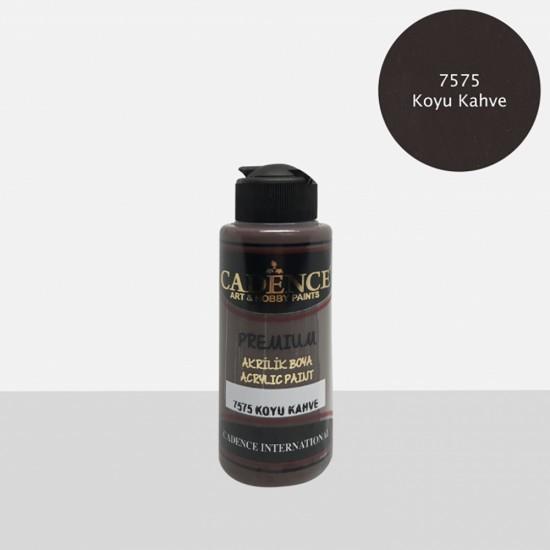 Cadence Akrilik Boya 7575-Koyu Kahve 120ml