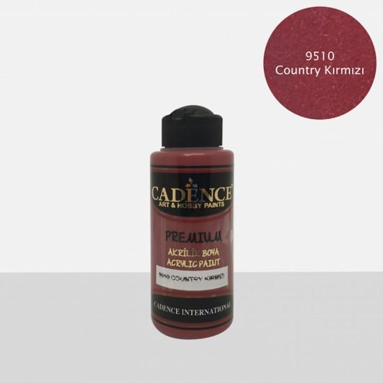 Cadence Akrilik Boya 9510-Country Kırmızı 120ml