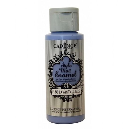 Cadence Style Mat Enamel Cam Boyası 349-Lavanta Mavi 59ml (Porsel
