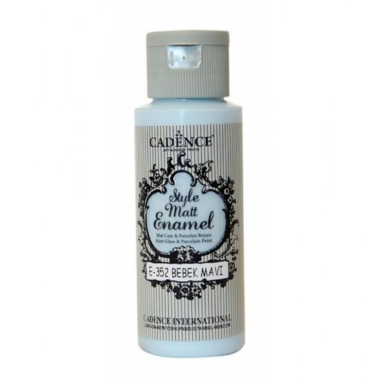 Cadence Style Mat Enamel Cam Boyası 352-Bebek Mavi 59ml (Porselen