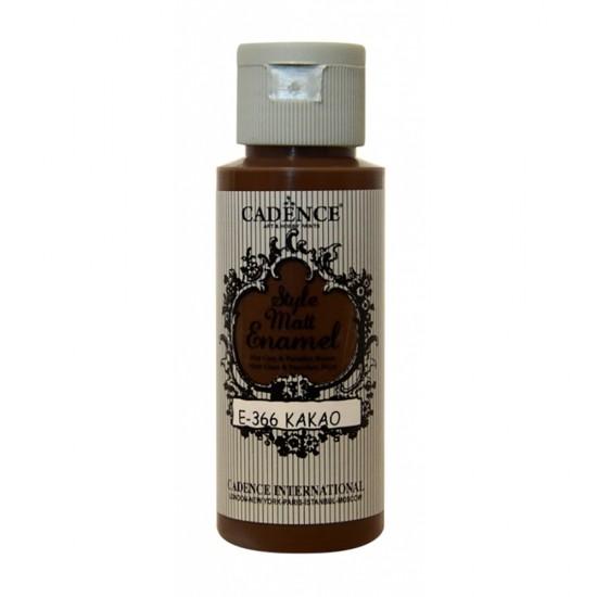 Cadence Style Mat Enamel Cam Boyası 366-Kakao 59ml (Porselen - Se