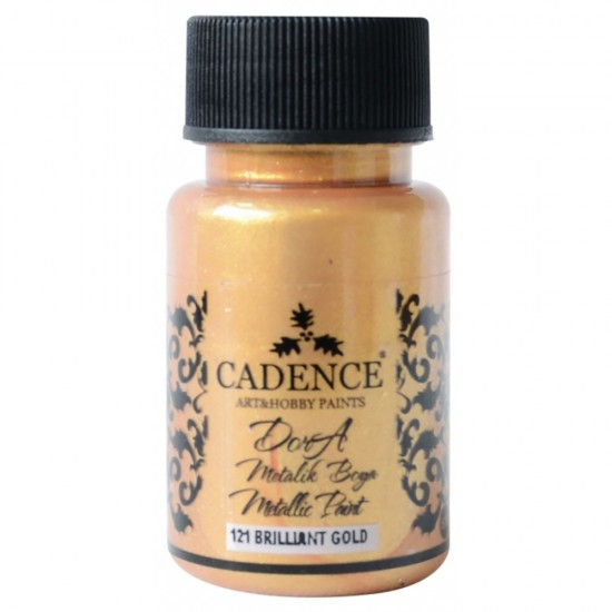 Cadence Dora Simli Metalik Boya 121-Brilliant  50ml