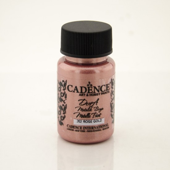 Cadence Dora Simli Metalik Boya 202-Rose Gold 50ml