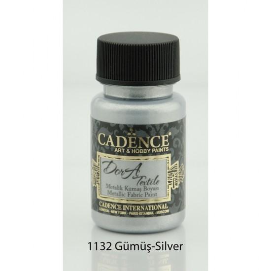 Cadence Dora Kumaş Boyası 1132-Gümüş 50ml