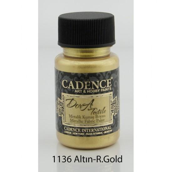 Cadence Dora Kumaş Boyası 1136-Rich Gold 50ml