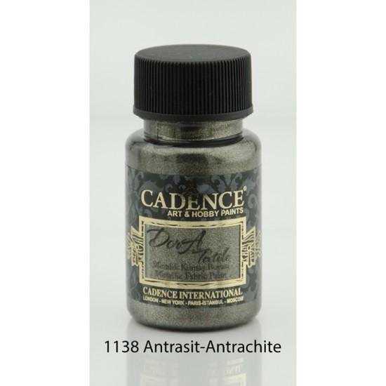 Cadence Dora Kumaş Boyası 1138-Antrasit 50ml