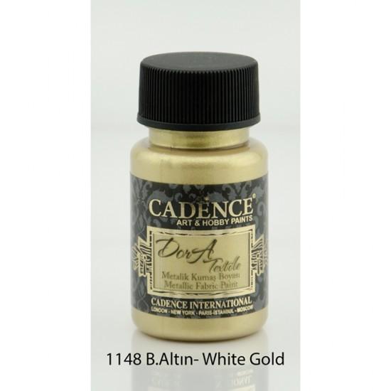 Cadence Dora Kumaş Boyası 1148-Beyaz Altın  50ml