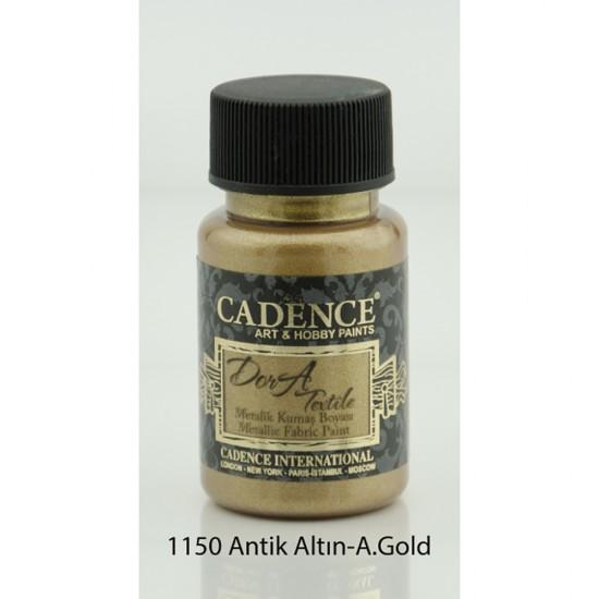 Cadence Dora Kumaş Boyası 1150-Antik Altın  50ml