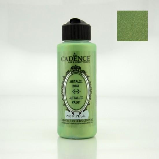 Cadence Metalik Boya 206-Pastel Yeşili 120ml