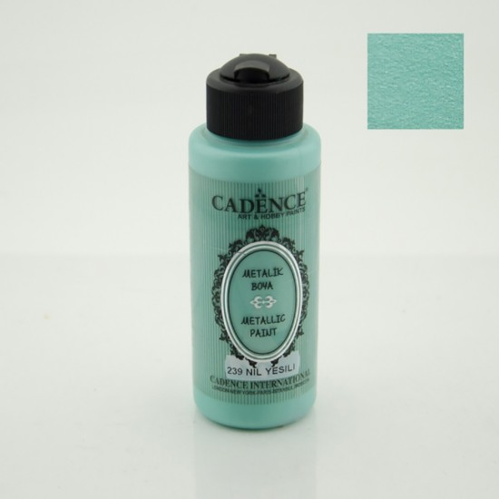 Cadence Metalik Boya 239-Nil Yeşili 120ml