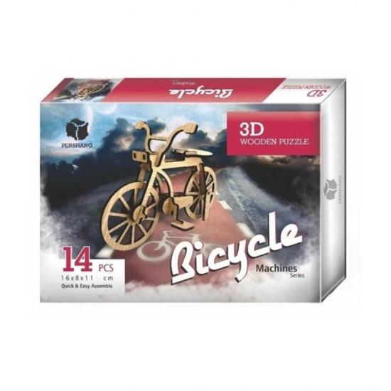 Bisiklet 3d Wooden 14 parça Puzzle