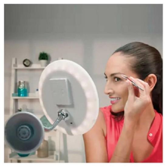 Flexible 10xZoomlu Ultra Esnek Işıklı Çerçerveli Makyaj Aynası
