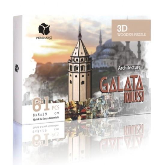 Galata Kulesi 3D Ahşap Puzzle 63 Parça