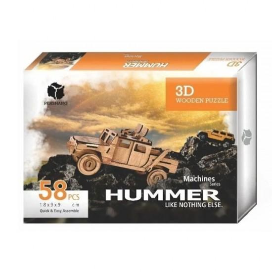 Hummer 3D Ahşap Puzzle 58 Parça