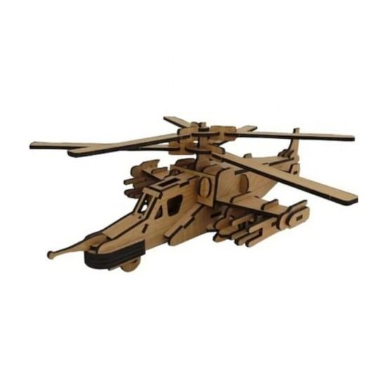 Kara Köpekbalığı Helikopter 3D Ahşap Puzzle