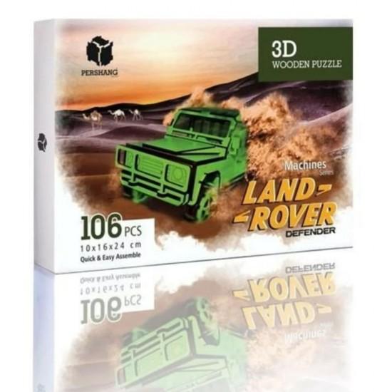 Land Rover 3D Puzzle (16X16X24) 106 Parça
