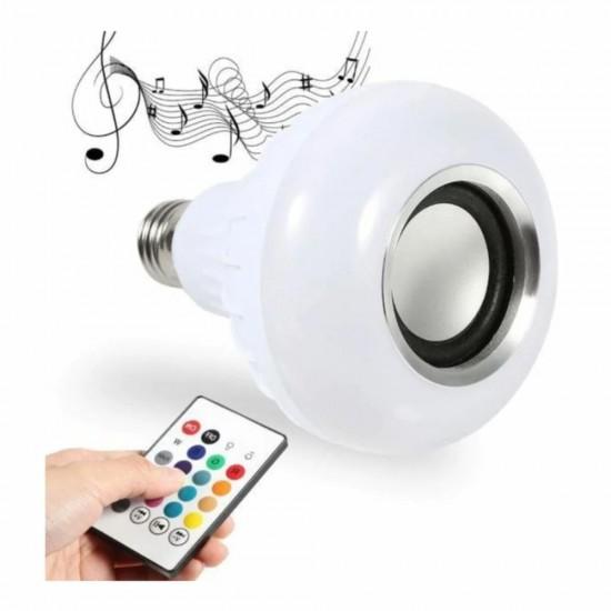 Pazariz Bluetooth Hoparlörlü Usb Girişli Led Ampul Renkli