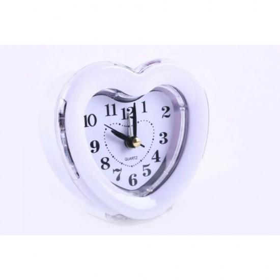 Masa Saati Alarmlı Çok Şık Tasarım Kalp