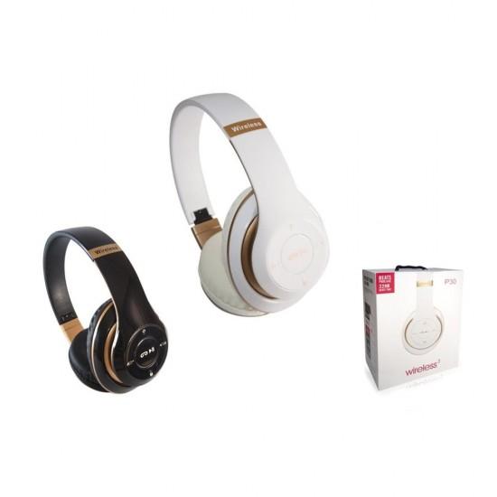 P30 Mikrofonlu Katlanabilir Bluetooth Kulaklık MP3 Çalar-Hafıza Kartı