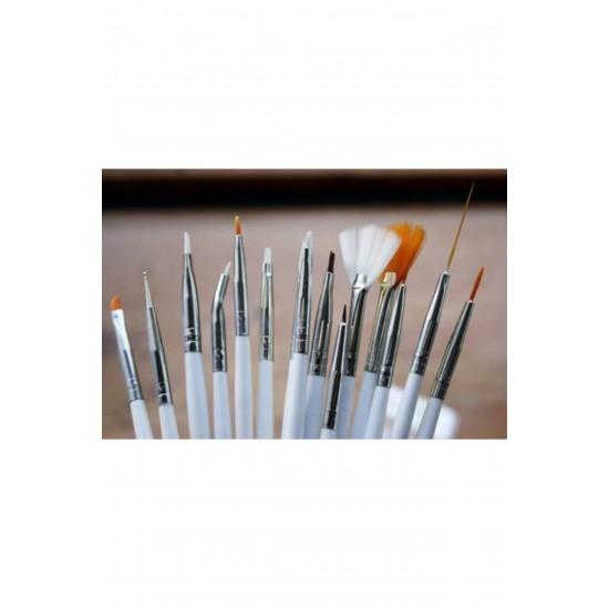 Nailarts Tırnak Süsleme 15'li Fırça Seti