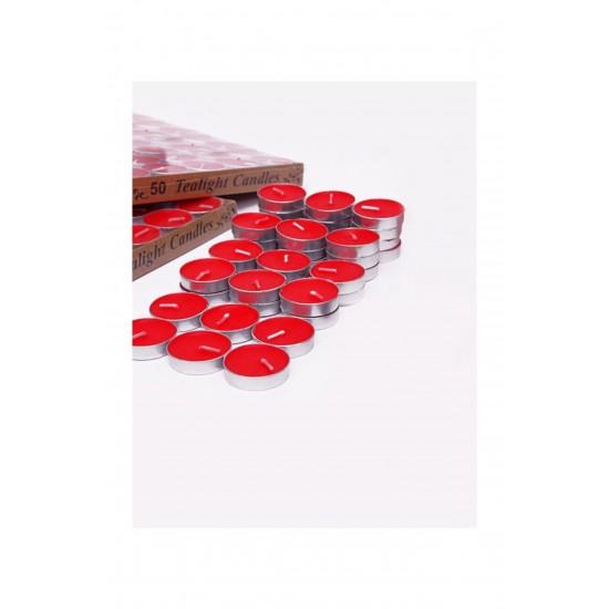 100 Adet Kırmızı Tea Light Mum Mm20-100