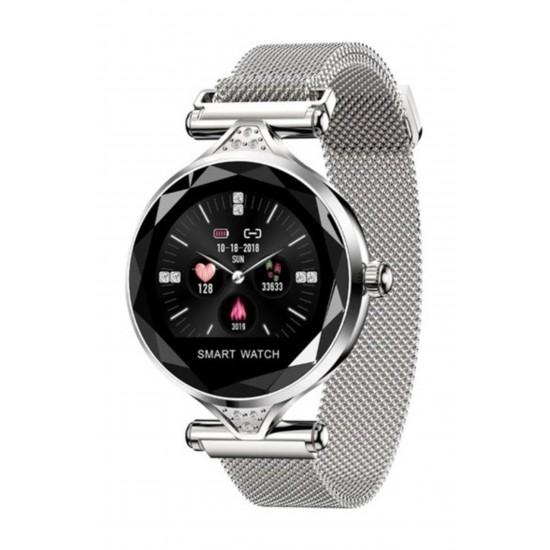 Pazariz H1 Bayan Akıllı Saat Smart Watch Konuşma Özellikli Özel Seri - İthalatçı Garantili