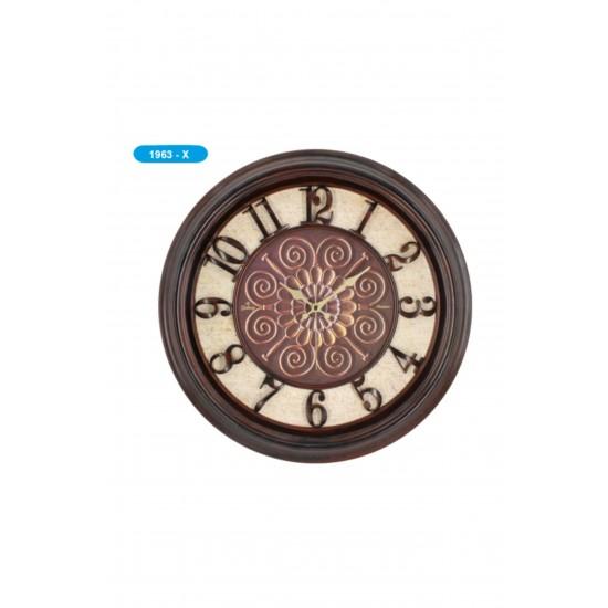 Pazariz 1963-x Premium Kabartma Rakamlı Duvar Saati