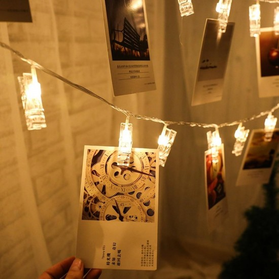 Pazariz Işıklı Mandallı Fotoğraf Albümü 20li