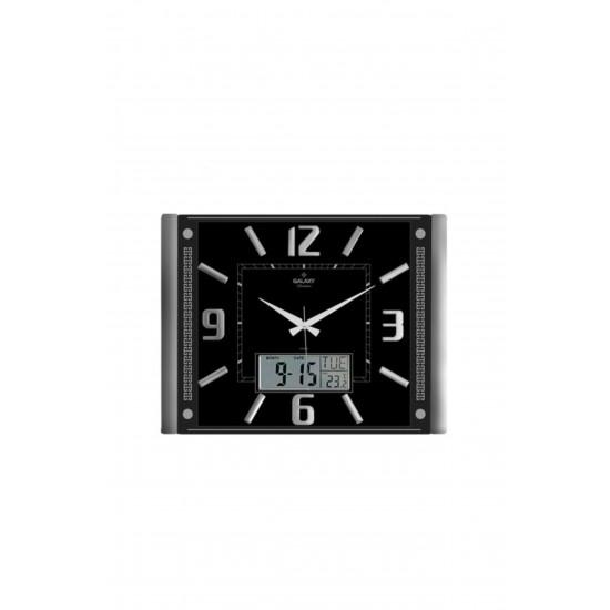 Pazariz 711-s Premium Kabartma Rakam Dijital Duvar Saati Siyah