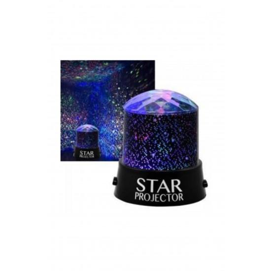 Pazariz  Projeksiyon Gece Lambası Yıldızlı Led Lamba
