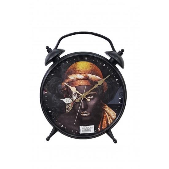 Pazariz D-300-20 Dekoratif Masa Duvar Saati Siyah