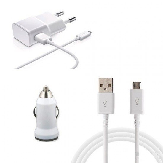 Pazariz ANDROİT VE ARAÇ ÇAKMAKLIK USB 3 İN 1 TAKIM ŞARJ BAŞLIK