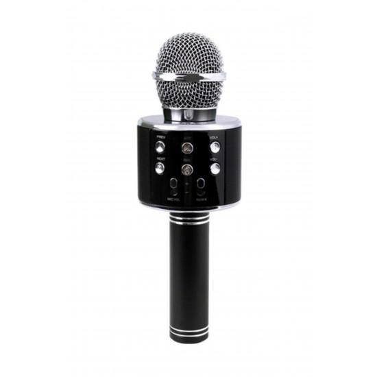 Pazariz Bluetooth Karaoke Mikrofon Speaker Mp3 Çalar Kart Girişli Siyah