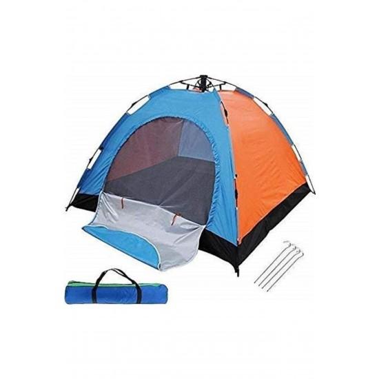 Pazariz 4 Kişilik Kolay Kurulum Otomatik Açılır Kamp Çadırı 200x200x135
