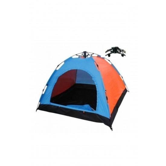 Pazariz 8 Kişilik Renkli Dayanıklı Otomatik Kamp Çadırı 250x250x165