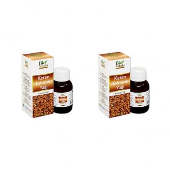Pazariz 2 Adet Bio Vitals Keten Tohumu Yağı 50 Ml + 50 Ml
