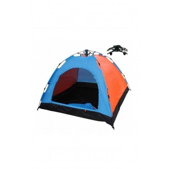 Pazariz 10 Kişilik Çift Renkli Otomatik Kurulum Kamp Çadırı (300x300x170)