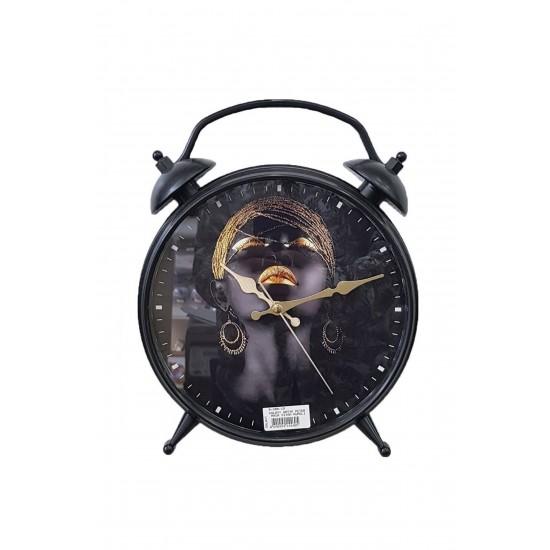 Pazariz  D-300-19 Dekoratif Masa Duvar Saati Siyah
