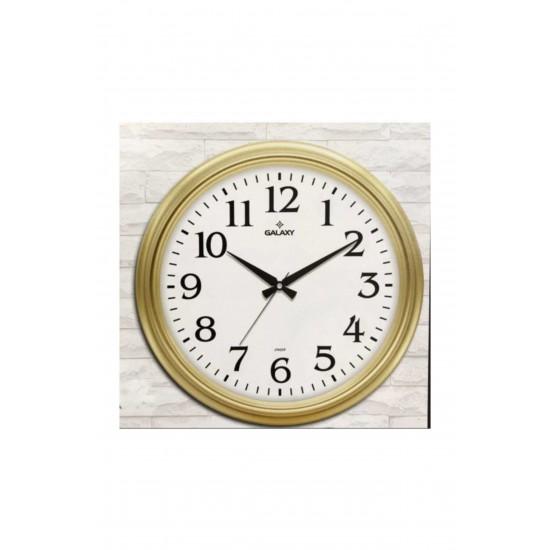 Pazariz 1962-A Premium Büyük Büro Altın Renk Duvar Saati 46 cm