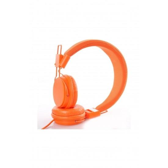 Pazariz Color Ep05 Kafa Bantlı Bluetooth Kulaklık - Turuncu