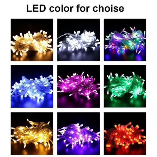 Pazariz  100 Led Işıklı Yılbaşı Işığı Ağaç Vitrin Süsleme Işık 5 MT Karışık Renk