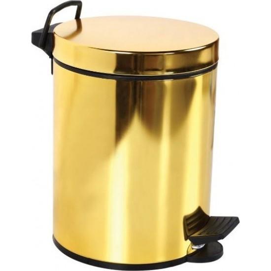 Bauboss Pedallı Çöp Kovası 3 lt Altın Rengi