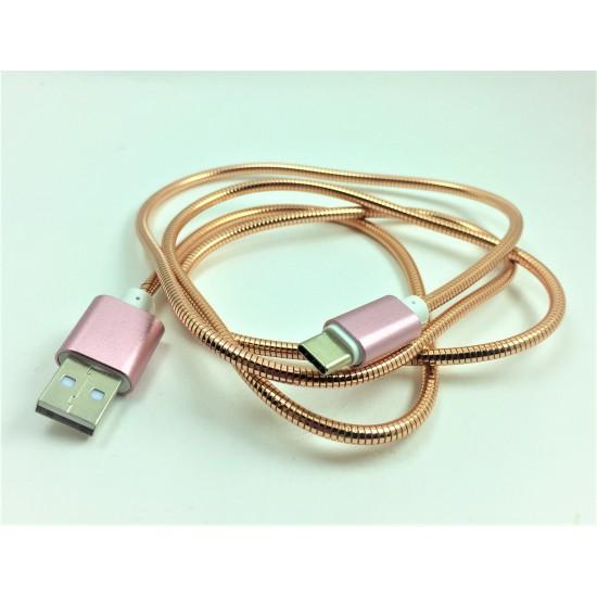Pazariz  Type-C Metal Hızlı Şarj ve Veri Kablosu