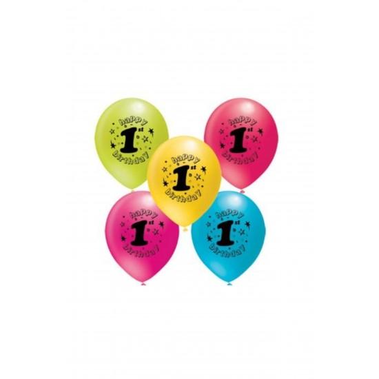 Pazariz 1 Yaş Baskılı Balon - 100 Adet