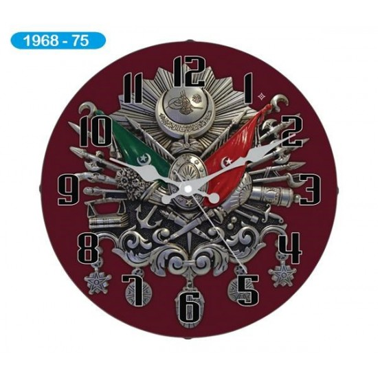 Pazariz Dekoratif Bombeli Cam Duvar Saati 1968-075