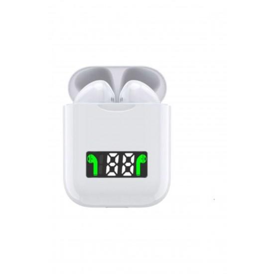 Pazariz  I99 Tws Kablosuz Dokunmatik Led Göstergeli Bluetooth Kulaklık Beyaz