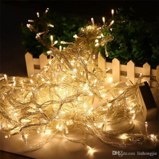 Pazariz  Sarı Led Lamba Süs 10 Metre Işık Elektrikli 50 ampul led Dekor