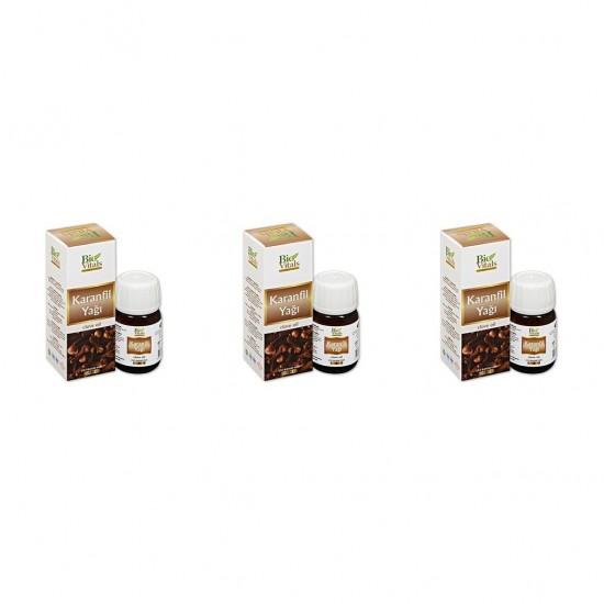 Pazariz 3 Adet Bio Vitals Karanfil Yağı 20 ml + 20 ml + 20 ml