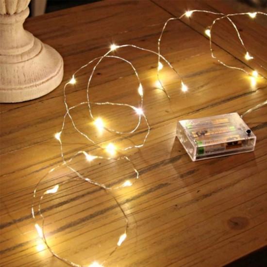 Pazariz  10 Metre Pilli Peri Led Tel Led Işık Dekoratif Led Aydınlatma Süs