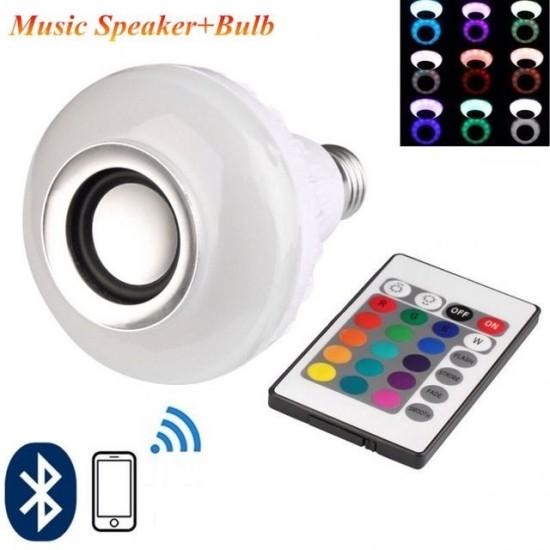 Pazariz Bluetooth Hoparlörlü Akıllı LED Ampül Renkli
